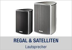 Regal und Satelliten Lautsprecher