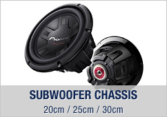 Subwoofer Chassis, 20cm / 25cm / 30cm