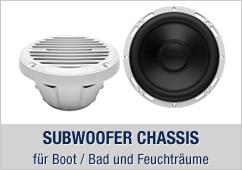 Marine Subwoofer-Chassis - für Boot / Bad / Küche und Feuchträume