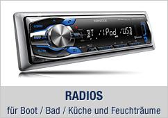 Marine Radios - für Boot / Bad / Küche und Feuchträume