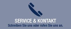 Service und Kontakt - Schreiben Sie uns oder rufen Sie uns an